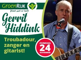 Optreden Troubadour Gerrit Hiddink